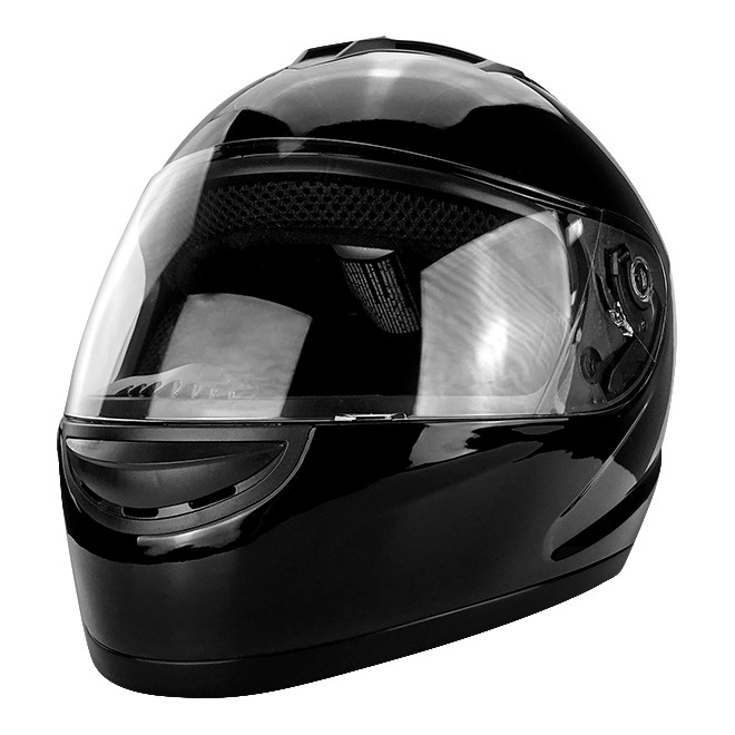 Full Face Motorcycle Helmet With Flip Up Visor Gloss Black