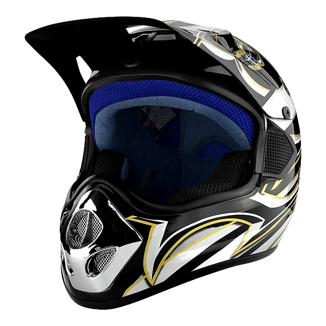 Off Road Motocross Motorcycle Helmet Gloss Black