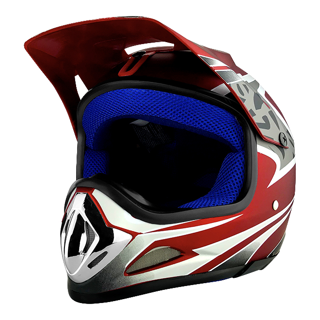 Off Road Motocross Motorcycle Helmet Flat Red