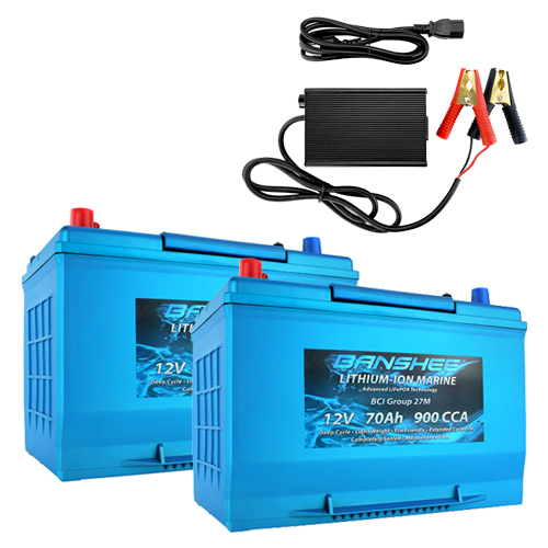 Banshee 24V 70Ah Marine Lithium Battery Kit