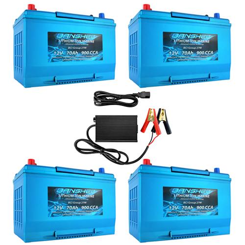 Banshee 48V 70Ah RV Lithium Battery Kit