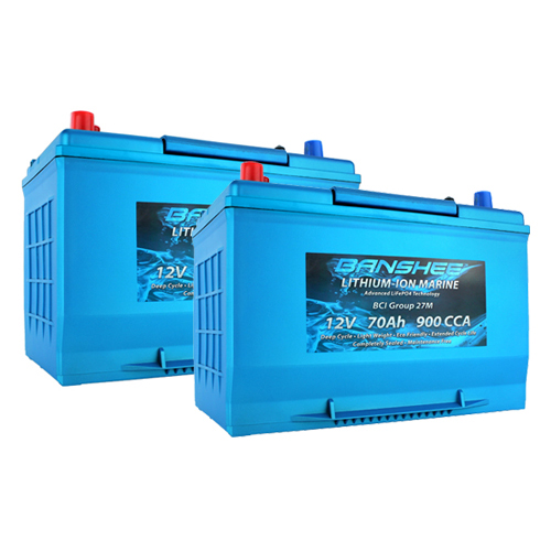 Banshee 24V Lithium Deep Cycle Marine Battery Group 27 - 2 Pack