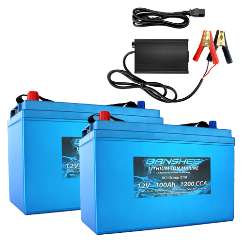 Banshee 24V 100Ah Solar Lithium Battery Kit
