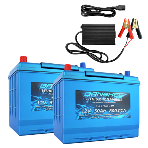 Banshee 24V 50Ah Marine Lithium Battery Kit