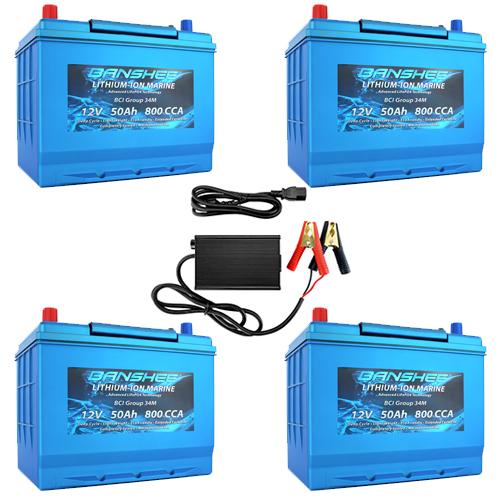 Banshee 48V 50Ah RV Lithium Battery Kit