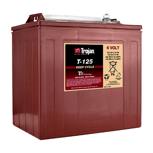 T-125 Deep-Cycle Flooded Golf Cart Battery