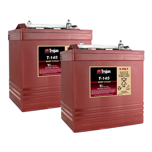 Trojan T145 6 Volt, 260 AH Deep Cycle Battery - 2 Pack