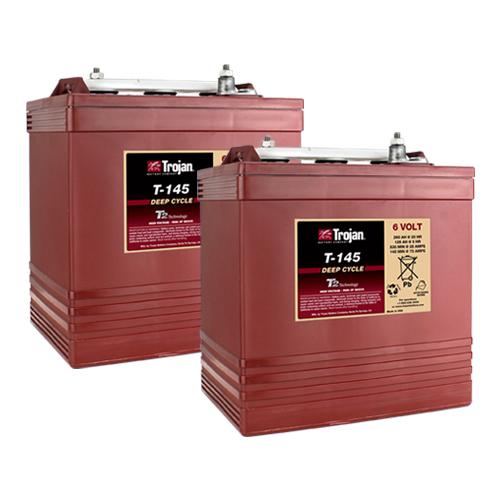 Trojan T145 6 Volt, 260 AH Deep Cycle Battery - 2 Pack