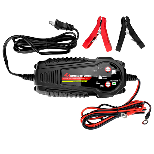Banshee 6/12V 4A Fully Automatic Battery Charger/Maintainer for Lithium & SLA