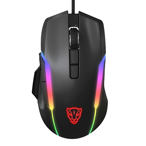 Wired Gaming Mouse RGB Spectrum Backlit Ergonomic Mouse Programmable Buttons up to 12000 DPI for Windows PC Gamers