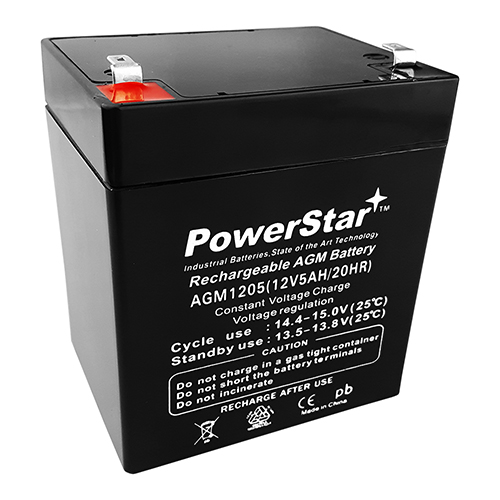 PowerStar®3 Year Warranty 12V 5AH Alarm Security System Battery 12 volt 5 ah
