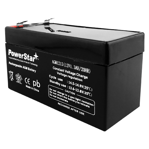 PowerStar 12V 1.3ah battery fits or replaces Bear Medical Systems CUB 750VS VENTILATOR 1