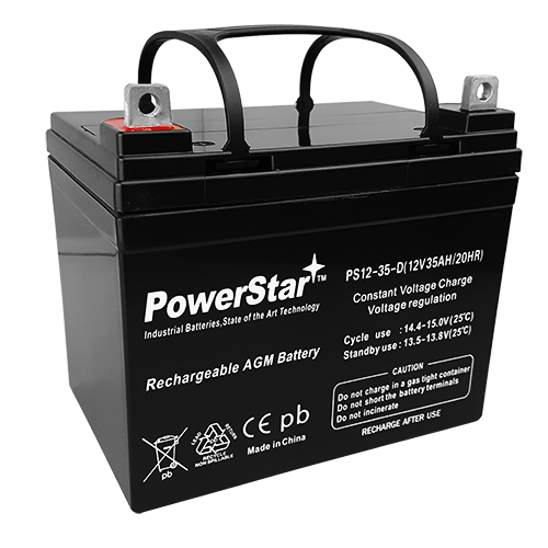 12V 35AH SLA Battery Replaces NP38-12 U1-34 UB12350
