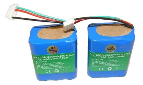 2X 7.2V Battery For Mint Plus 5200 iRobot 5200B 5200C Braava 380t Floor Cleaner