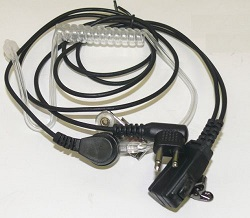 Two Way Radio Headset 2-Pin Acoustic Tube Earpiece Mic Covert Surveillance for Motorola Radio