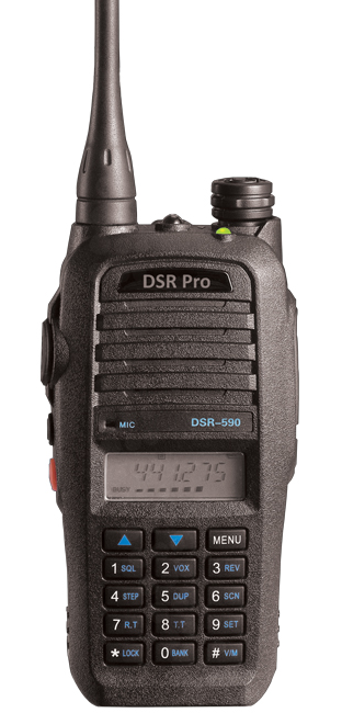 DSR-590 UHF 5 Watt 450-520MHz Two Way Radio Replacement for CP185 Radio