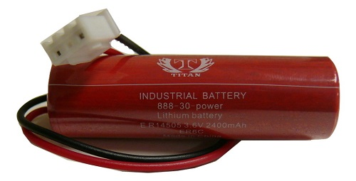 3.6V 1800mAh ER6C Li-ion Thionyl Chloride PLC Battery for Maxell 1800mAh Battery
