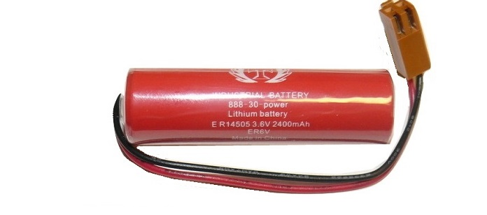 3.6V 2000MAH TOSHIBA ER6V Li-ion High Energy Density Battery with Plug Wire