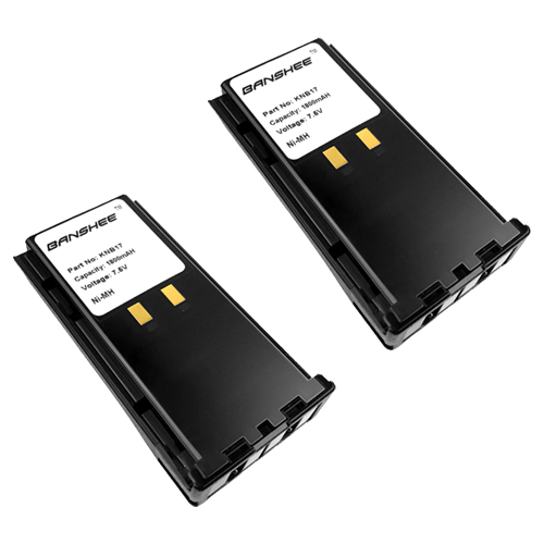 2 Pieces of KNB17/A Battery for KENWOOD TK280 TK380 TK390 TK480 NIMH 1800MAH