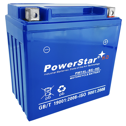 14L-BS PowerStar HD SLA AGM Battery