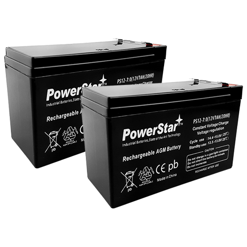 2x 12V 7Ah SLA Backup Battery Kit for APC, UPS XS1500 replaces PS-1290 and RBC5 5