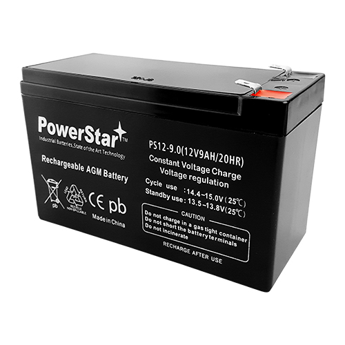 PowerStar--8x 12V 9AH SLA Battery for RBC12 RBC26 RBC27  2