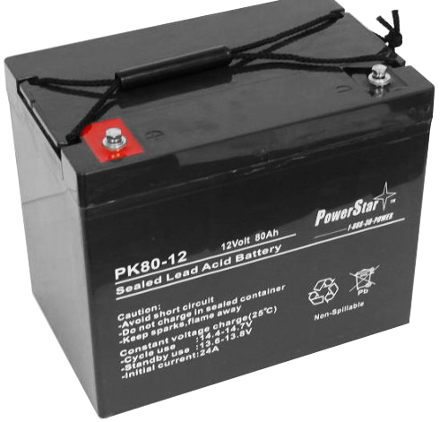 PowerStar--12V 80AH Audio System Battery replaces NPX80 ST107-1300 2 YEAR WARRANTY