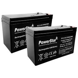 12V 8AH SLA Battery replaces WKA12-8F2 DJW12-8HD TPH12080 F2 Mighty Max 4 Pack