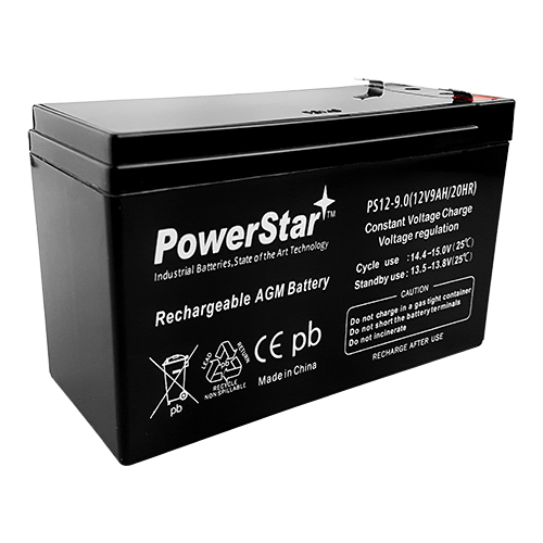 PowerStar--8x 12V 9AH SLA Battery for RBC12 RBC26 RBC27  1