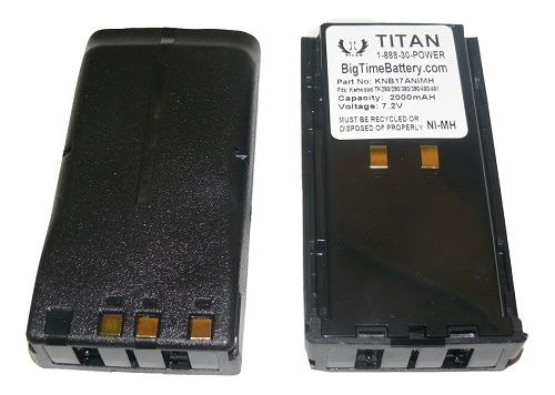 2 x 2100mAh Ni-MH KNB-17 Radio Battery for Kenwood TK-280 TK-380 TK-390 Radio(s)