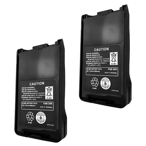 2x KNB-26N Replacement Battery for Kenwood TK-3160 TK-2173 TK-3173 Radio Models