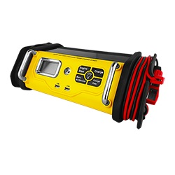 30A 75A Engine Start Portable Battery Charger w/ LCD Display and Charging Clamps