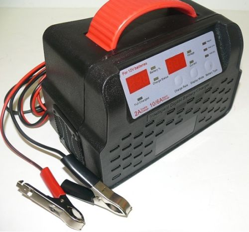 Titan NEW Titan 12-Volt Automatic Battery Charger 10 Amp Fast Charge w/Carry Handle
