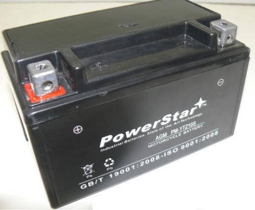 POWERSTAR AGM YTZ10S ATV Battery For Suzuki LT-R450 QuadRacer 450 Yamaha YFM35R Raptor 350