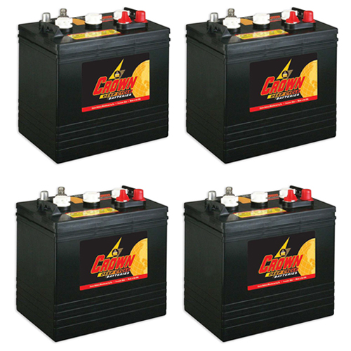 Crown Replacement for Trojan T105 6 Volt Battery - 4 Pack