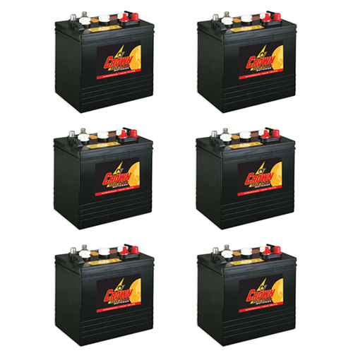 Crown Replacement for Trojan T105 6 Volt Battery - 6 Pack