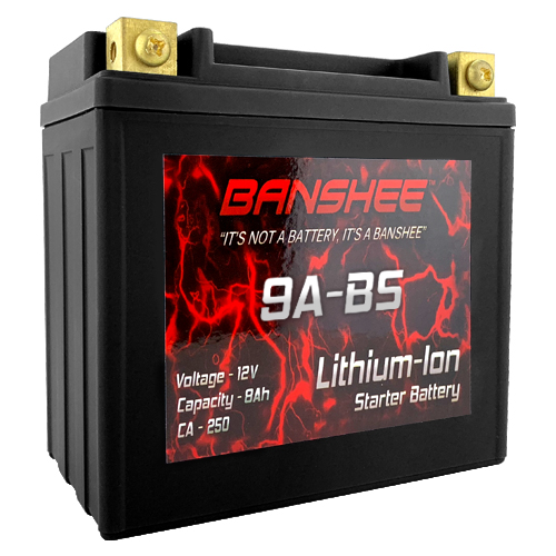 Lithium Ion 9A-BS Sealed Motorcycle Starter Battery