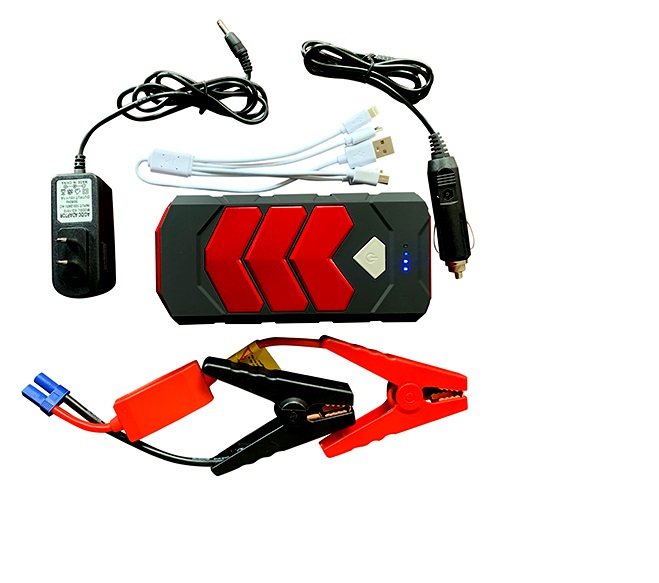 Car Jump Starter, 10A Portable Charger Power Bank with LED Flash Light