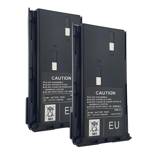 2 x Battery(s) for KENWOOD KNB15 KNB-15 KNB-15A TK-260 TK-360 Two-Way Radio(s)